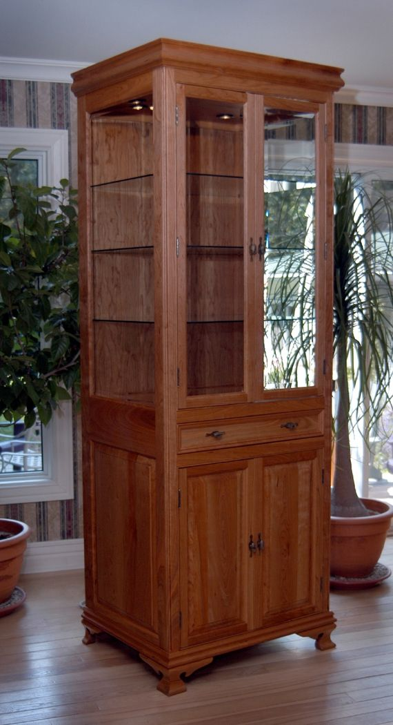 Captivating Cherry Curio Cabinet