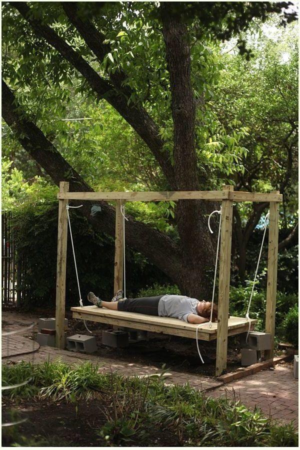 Hangebett Selber Bauen 44 Diy Ideen Fur Bett Aus Paletten Im Garten Aus B 1000 In 2020 Hangebett Bett Aus Paletten Paletten Garten