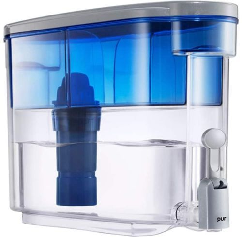Purified Water Dispenser 2 Stage Filtration 1 Gallon Space Saver Indoor Blue #purified #WaterDispenser #2Stages #Filtration #SpaceSaver