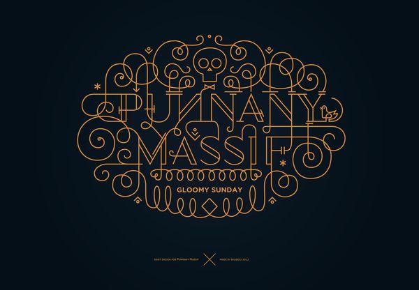 ornamental lettering by Boglárka Nádi, via Behance