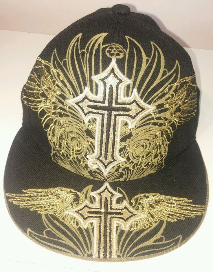 City Hunter Religious John 3:16 Fitted Hat SIZE M #CityHunter #ReligiousFittedHat