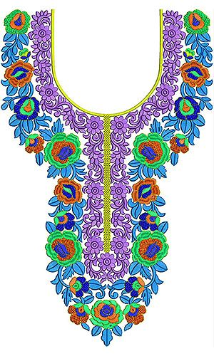 New Arrival Latest Embroidery Neck Design