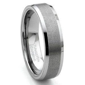 Tungsten Carbide Satin Men's Wedding Ring Size 5-15.5 | eBay £80