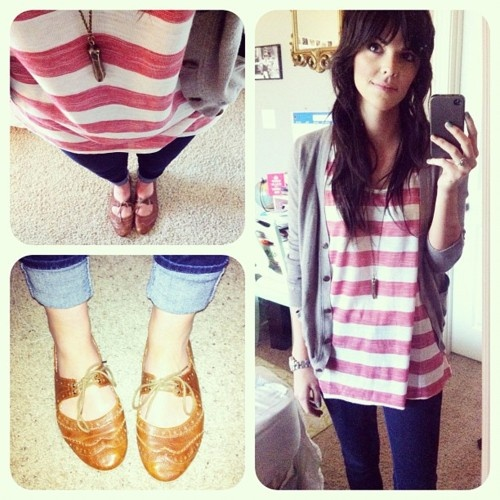 5/2/12 outfit: Cardigan-Gap/ oversized tank- Urban Outfitters/ Jeans- Seven For All Mankind/ Shoes- Steve Madden/ Necklace- UO/ Watch- Marc by Marc Jacobs(gift from the love)