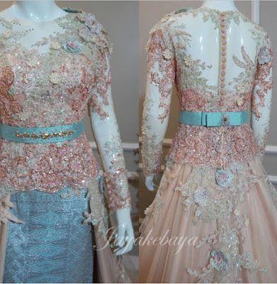 New Kebaya wedding dress fall season 2016 - Orange