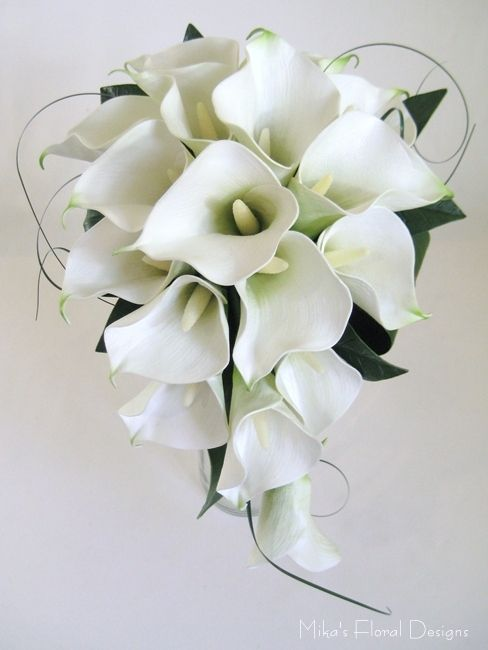 white roses and black calla lillies   touch calla lily and silk rose teardrop bouquet real touch calla lily ...