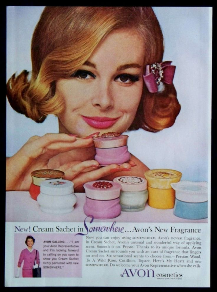"Avon fragrance sachets make a great addition or beginning of a vintage collection. These three make the perfect trio of shapes and colors. Avon ""Persian Wood"" Cream Sachet Jar (1959) Far left in Back"