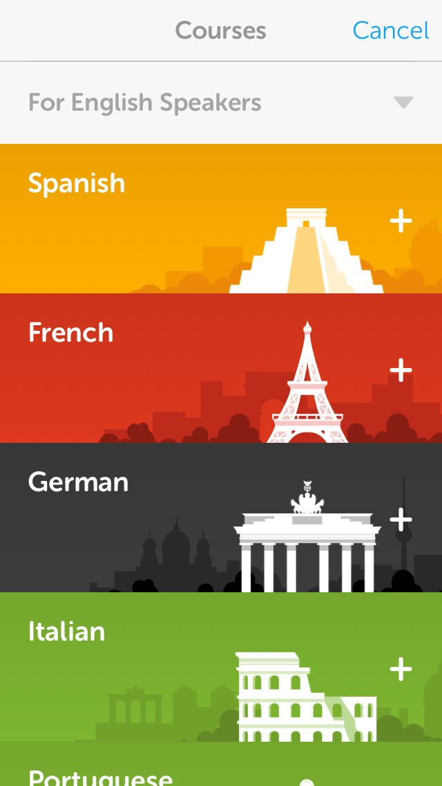 Duolingo #UI I actually use this its great!