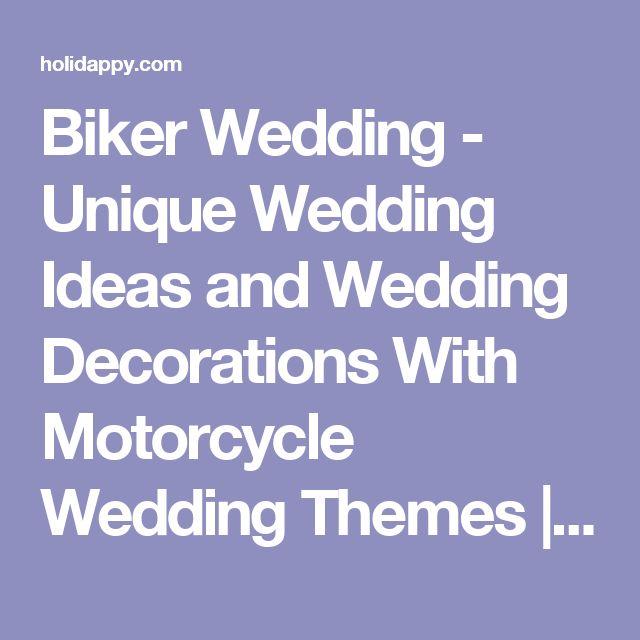 Biker Wedding - Unique Wedding Ideas and Wedding Decorations With Motorcycle Wedding Themes   Holidappy