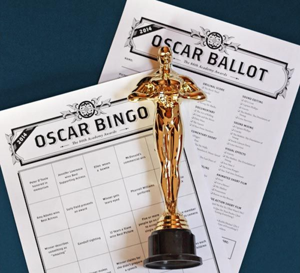 7 Easy Oscars Party DIYs | 2014 Oscars Bingo & Ballots from @Jessica Jones