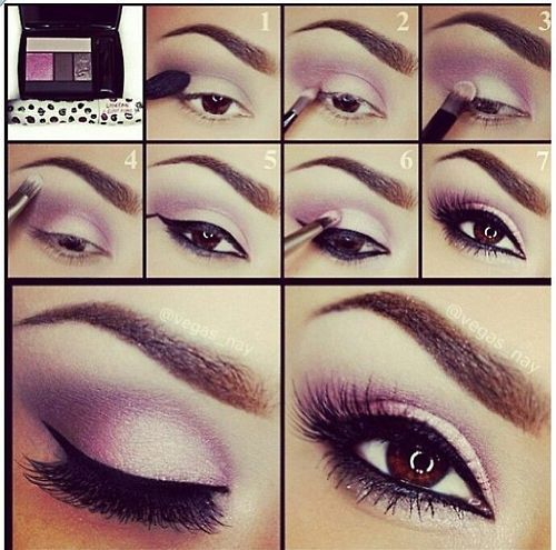 Need this :) Purple pallets and brown eyes is the perfect combination #purple #eyecontourpallet