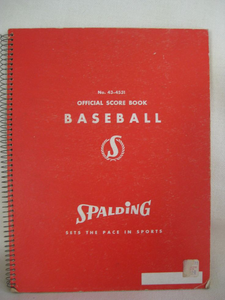 Vintage Spalding Official Baseball Score Book by VintageByThePound on Etsy