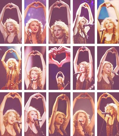 Taylor Swift hand heart