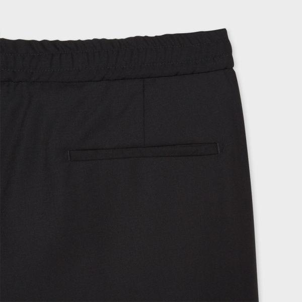 Paul Smith Men's Slim-Fit Black Wool Cuffed Joggers
