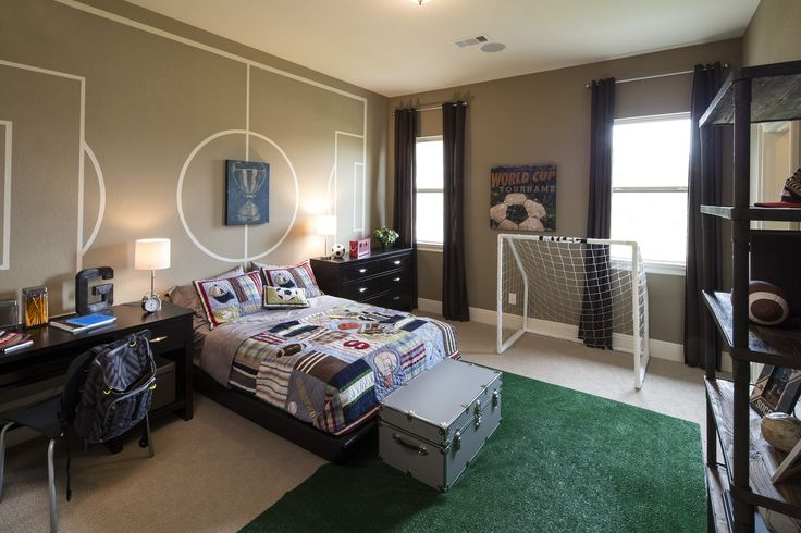 Creative soccer themed bedroom (Sandhaven Bordeaux - Sienna Plantation, TX)