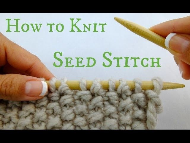 How to Knit Seed Stitch!