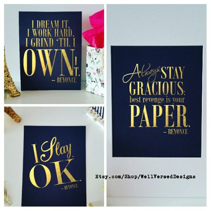 36 best beyonc themed bridal shower images on pinterest perfect beyonce formation lyrics gold foil i slay by wellverseddesigns stopboris Images