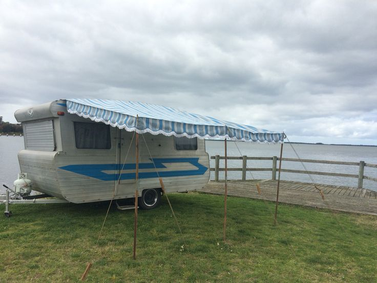 Bluebird with our new awning from Martis Awnings