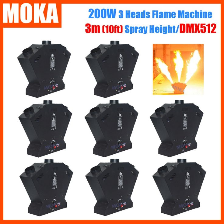 8pcs/lot Stage Effect Fire Machine Flame Thrower DMX512 Fire Projector Flame Machine Spray Fire Machine #Affiliate