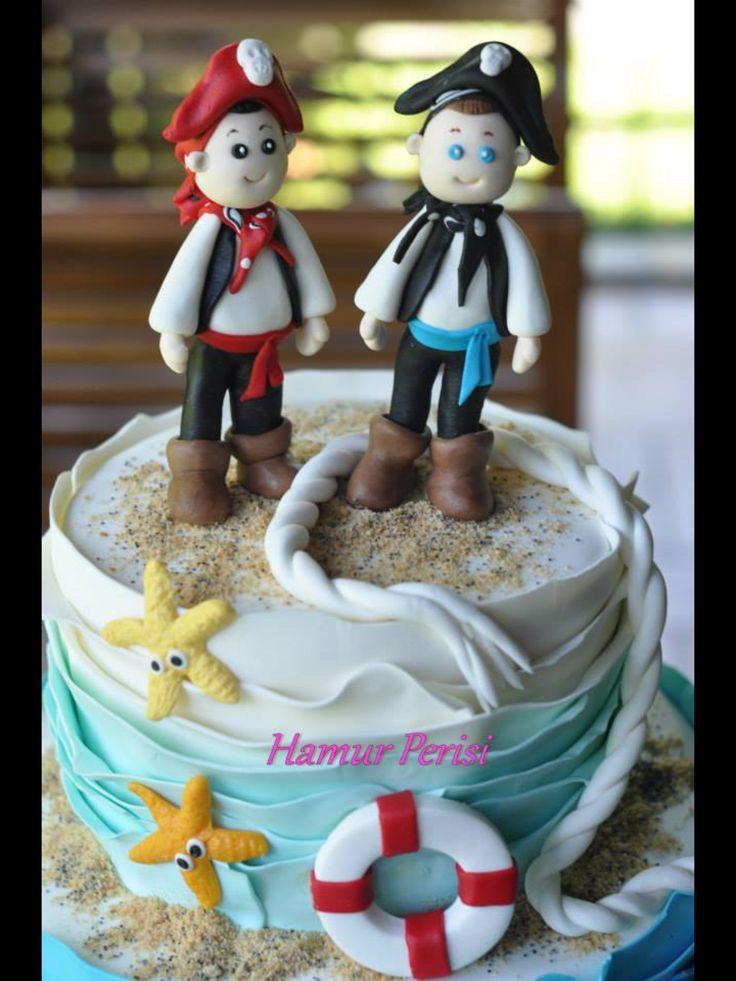 Marine Cake -Denizci pasta -korsan past - Pirate Cake