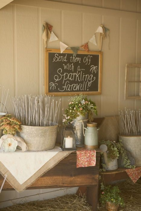 using lots of signs to tell people what to do . . . bye bye, wedding planner lady!
