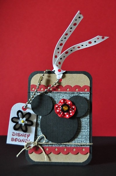 luggage tag.: Mouse Birthday, Disney Crafts, Minnie Mouse, Disney Scrapbook, Gift Tags, Disney Bound, Luggage Tags