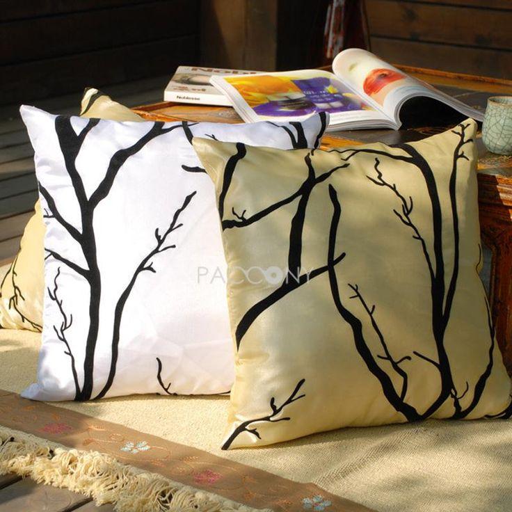 $19.99 Winter Branch Flocking Decorative Pillowcase & 33 best ☆ Fancy Pillows ☆ images on Pinterest   Pillowcases ... pillowsntoast.com