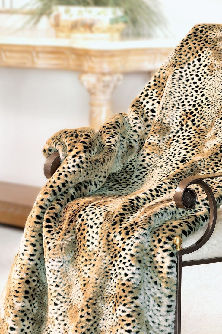 Signature Faux Fur Large Throw - Cheetah by Donna Salyers' Fabulous Furs on @HauteLook