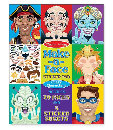 Make-a-Face Crazy Characters Stickers Pad by Melissa & Doug- my kids LOVE these!!!