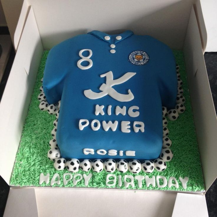 Leicester city football club shirt cake. For all LCFC football lovers
