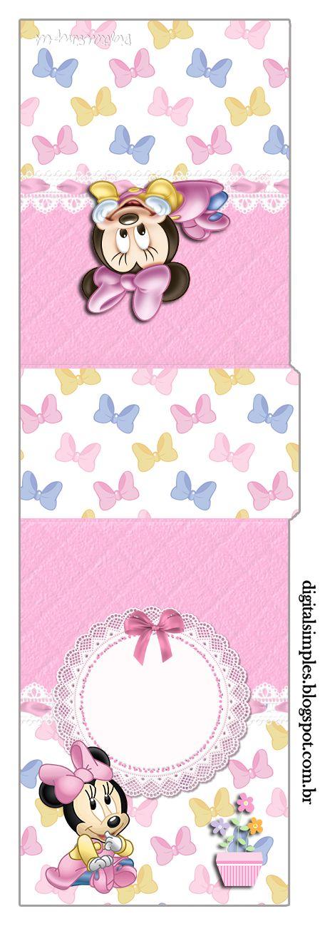 Festa Minnie Baby feita por Aninha Pessoa para sua bebê Eloísa Espero que gostem desse Kit de personalizados da Minnie Ba...
