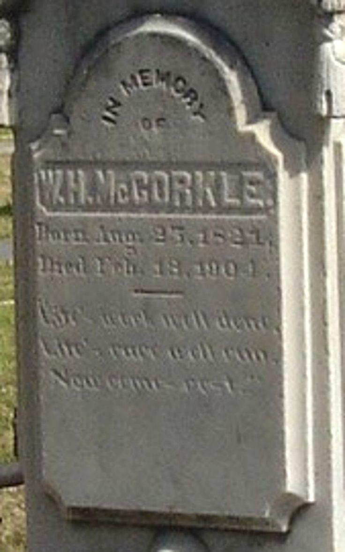 Capt William Hart McCorkle