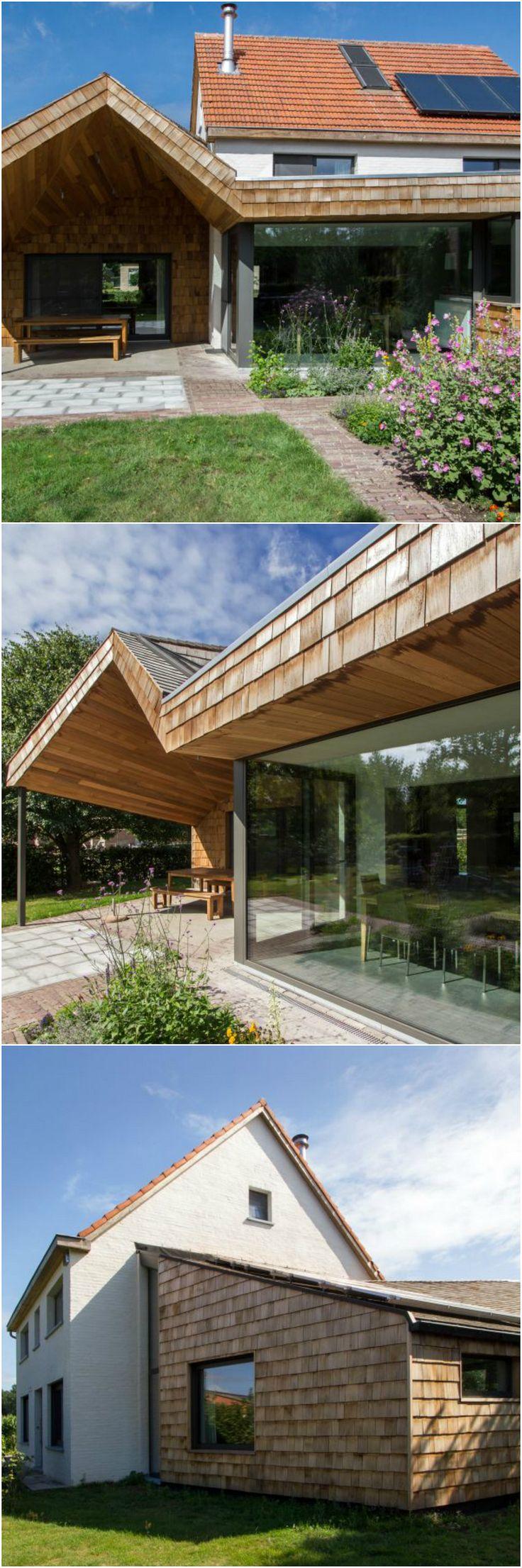 Meer dan 1000 idee n over grote ramen op pinterest ramen blootgestelde plafonds en slaapkamer - Uitbreiding oud huis ...