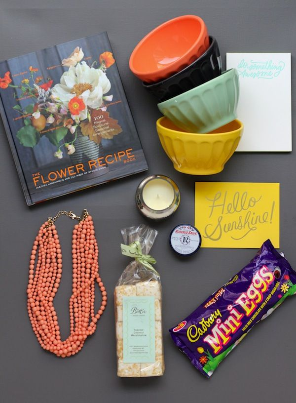 an easter basket for grown-ups (most likely of the lady variety).
