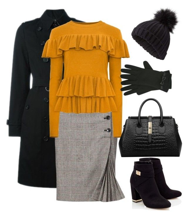 """""""Monday outfit inspiration... #colddays"""" by rebeccaodil on Polyvore featuring Burberry, Lipsy, Miss Selfridge and M&Co"""