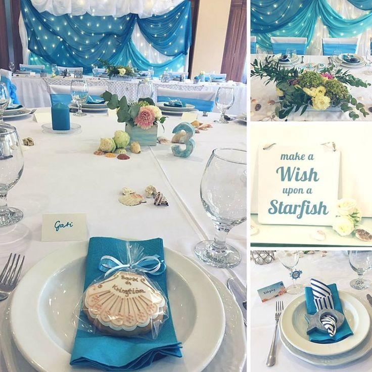 marine style wedding, nautical, beach, tenger, esküvő, dekoráció