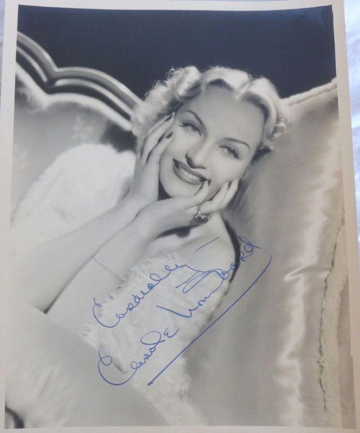carole lombard autograph