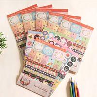 4 Set Coreano Giardino Segreto Floreale FAI DA TE Stamp & Diario e Carte Decorazione Scrapbook Calendario Notebook Etichetta Fiore Adesivi Trasparenti