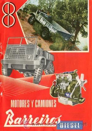 Página Publicidad Original *Motores y Camiones BARREIROS Diesel*. Año 1958