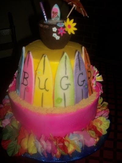 Hawaiian Themed 7th Birthday cake By Tammy21122 on CakeCentral.com