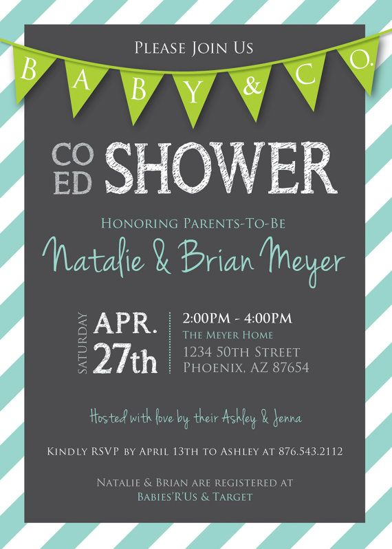 Co-Ed Baby Shower Invitations with best invitations layout