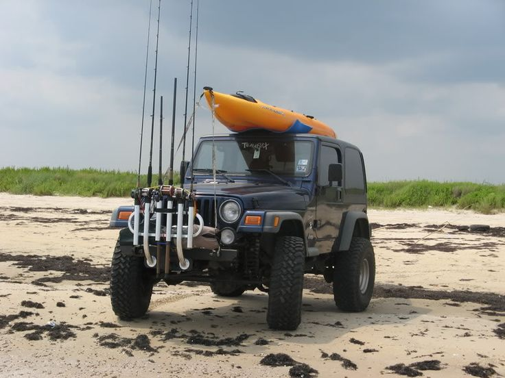 166 best jeep images on pinterest jeep stuff jeep mods for Jeep fishing rod holder