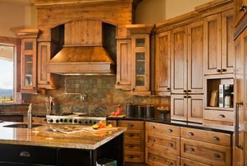 Kitchen cabinets made out of wood | Pine kitchen cabinets render an organized look to kitchen. Not only do ...