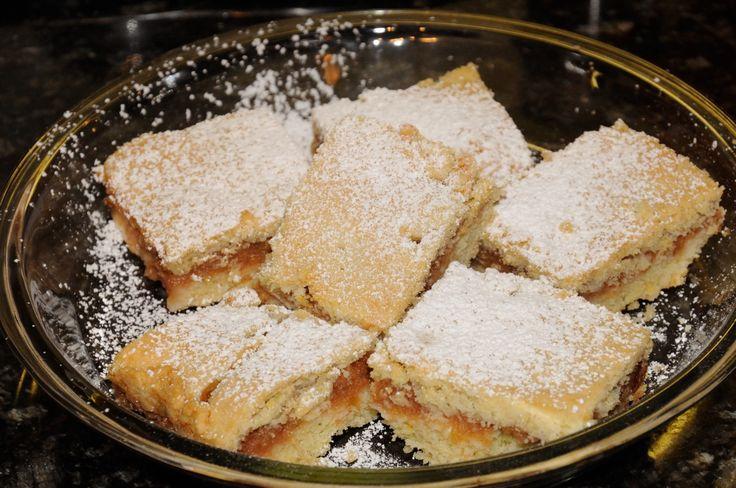 traditional slovak apple cake - (just like my mother's Ukrainian Apple Plyatsok recipe)