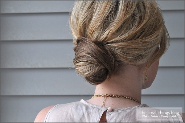 Wrapped bun style. See the easy how-tos. real-simple-finds-favorite-hair-makeup-looks