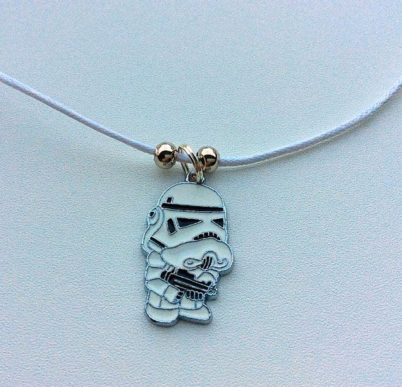 Star Wars Storm Trooper necklace valentines gifts by PetalcraftArt