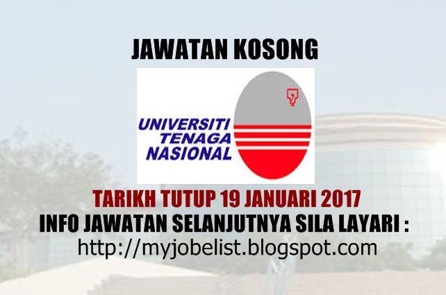 Jawatan Kosong di Universiti Tenaga Nasional (UNITEN) Pada 19 Januari 2017  Jawatan kosong terkini di Universiti Tenaga Nasional (UNITEN) Januari 2017. Permohonan adalah dipelawa daripada warganegara Malaysia yang berkelayakan untuk mengisi kekosongan jawatan kosong terkini di Universiti Tenaga Nasional (UNITEN) sebagai :1. CHIEF BUSINESS DEVELOPMENT OFFICERTarikh tutup permohonan 19 Januari 2017 Lokasi : Selangor Sektor : Berkanun  Interested applicants are invited to submit their…