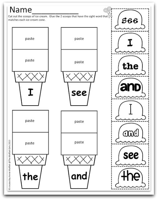 Sight Word Sampler FREEBIE!