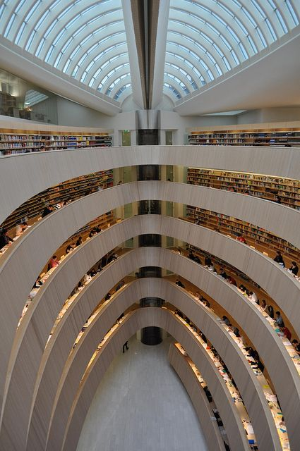 Santiago Calatrava - University of Zurich Law Library | this is a beautiful library