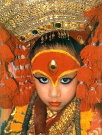 Kumari Devi - The Living Goddess Information - VisitNepal.com